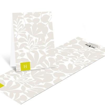 Enamored with Elegance Monogram Wedding Thank You Cards