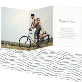 Chevron Dreams -- Trifold Wedding Invitations