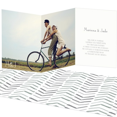 Chevron Dreams -- Trifold Wedding Invitations