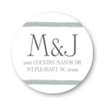 Circular Dream -- Monogram Address Labels