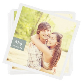 Monogrammed Photo -- Photo Napkins
