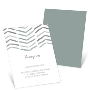 Chevron Dreams -- Wedding Reception Invitations
