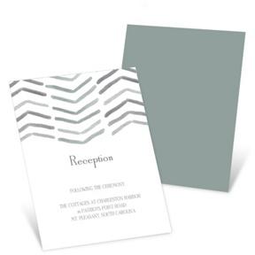 Chevron Dreams -- Wedding Reception Invitations