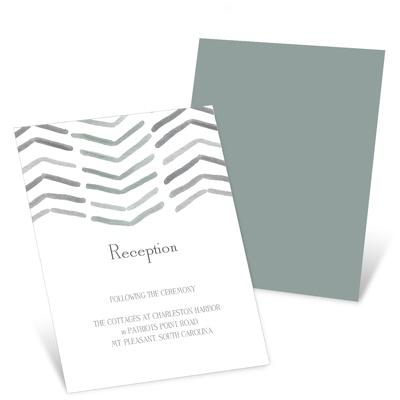 Chevron Dreams Wedding Reception Invitations