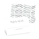 Chevron Dreams -- Unique RSVP Cards
