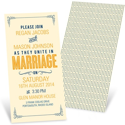 Happily Ever Headlines -- Poster Style Wedding Invitations