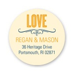 Happily Ever Headlines -- Personalized Wedding Return Address Labels