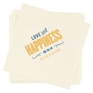 Happiness Is Wedding Reception Napkins