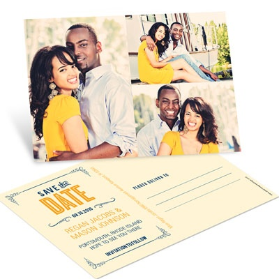 Happily Ever Save the Date Postcards