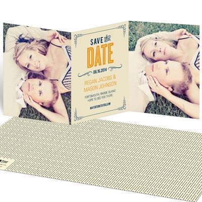 Happily Ever Headlines Save the Date Cards