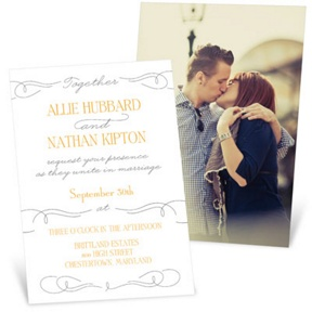 Swirling Vintage Script -- Wedding Invitations