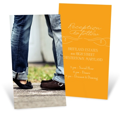 Sweetly Scripted Wedding Reception Cards