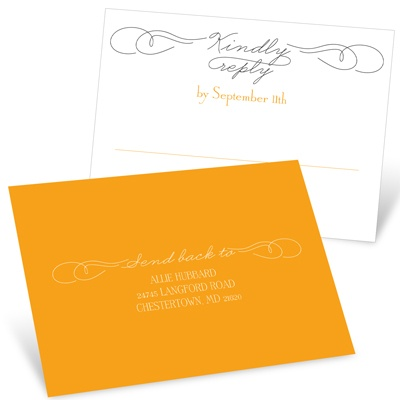 Sweetly Scripted RSVP Postcards