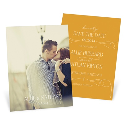 Swirling Vintage Script Save The Date Cards