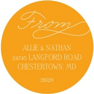 Sweetly Scripted Calligraphy Address Labels