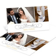 Dual Photo Display Wedding Thank You Notes