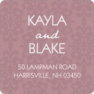 Fairy Tale Design Damask Address Labels