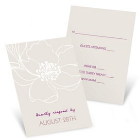 Fairy Tale Floral -- Wedding Reply Cards
