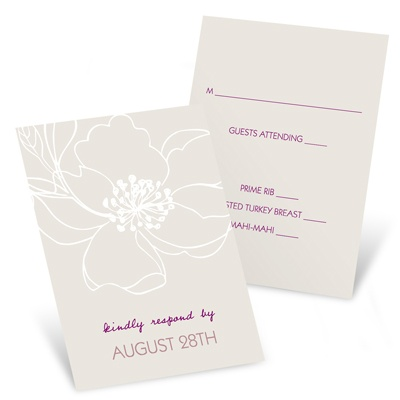 Fairy Tale Floral Wedding Reply Cards