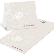 Fairy Tale Floral Wedding Thank You Notes