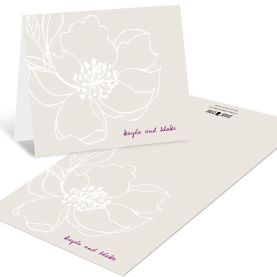 Fairy Tale Floral -- Wedding Thank You Notes