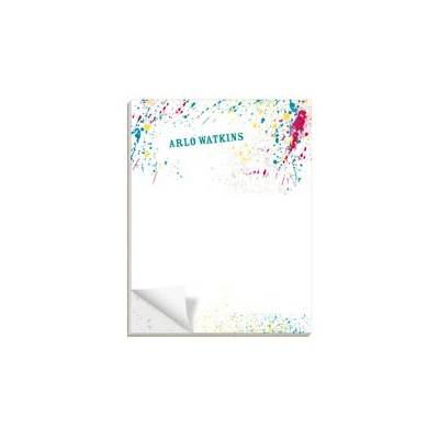 Splashed Paint Custom Notepads
