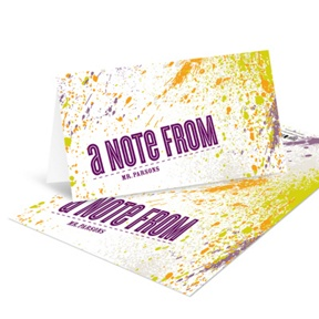 Splattered Sight -- Unique Note Cards