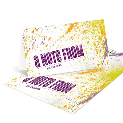 Splattered Sight Unique Note Cards