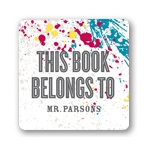 Splash of Color -- Personalized Book Plates