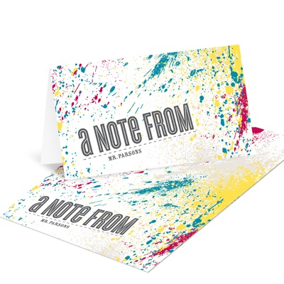 Splattered Sight Creative Note Cards