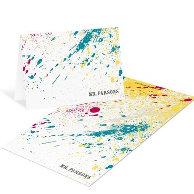 Splashed Paint Mini Note Cards Teacher Stationery