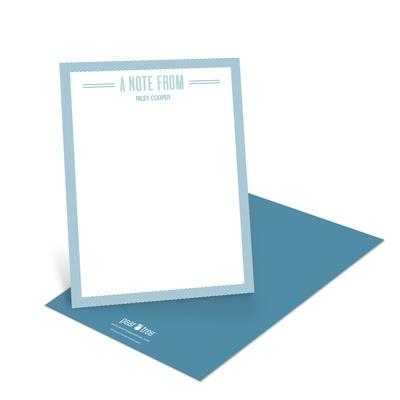 Diagonal Framework Modern Note Cards