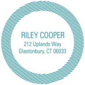 Diagonal Dimension -- Circle Return Address Labels