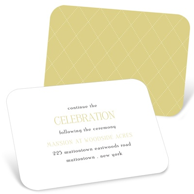 Diamond Detail -- Wedding Reception Cards