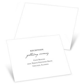 Timeless Ever After -- Receptions Cards