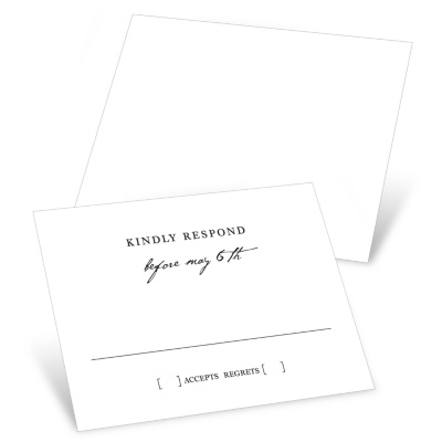 Timeless Ever After Response Cards