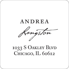 Timeless Ever After -- Elegant Return Address Labels