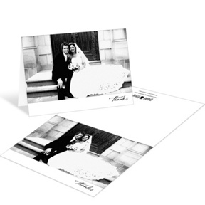 Timeless Ever After -- Wedding Photo Thank You Cards