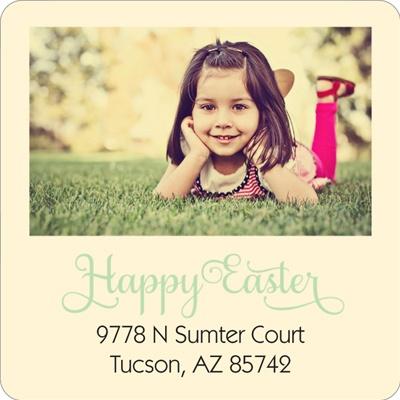 Photo Corner Display Easter Address Labels