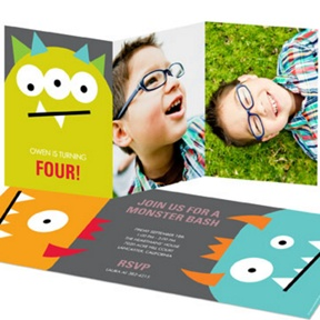 Monster Bash -- Monster Birthday Invitations