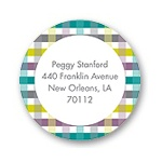 Precious Plaid -- Baby Shower Address Labels