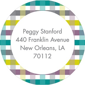 Precious Plaid -- Baby Address Labels