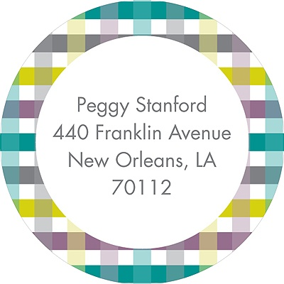 Precious Plaid Baby Address Labels
