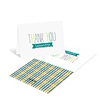 Precious Plaid -- Custom Baby Shower Thank You Cards