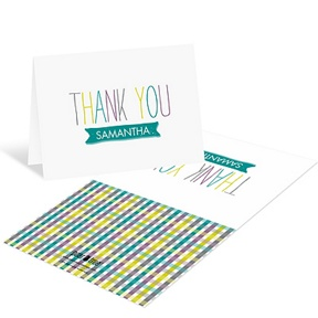 Precious Plaid -- Baby Shower Thank You Cards