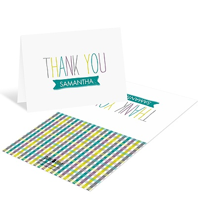 Precious Plaid Baby Shower Thank You Cards