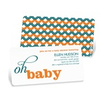 Sweetly Strung Scallops -- Baby Shower Invites