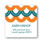 Sweetly Strung Scallops -- Baby Shower Return Address Labels