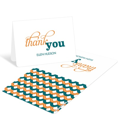 Sweetly Strung Scallops -- Personalized Thank You Cards
