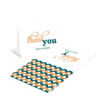 Sweetly Strung Scallops -- Personalized Baby Shower Thank You Cards